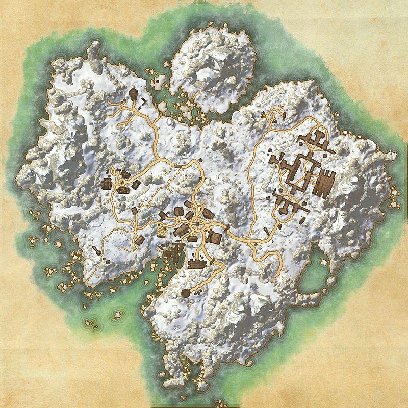 A map of Bleakrock Isle